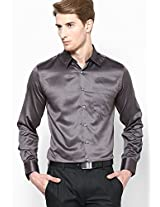 Dark Grey Formal Shirt Black Coffee