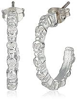 Bing Bang Silver Plated Skull Mini Hoop Earrings