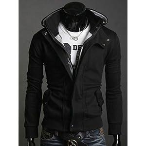 Designer Wear Classic Black Hoody Jacket Winter Wear - Slim Fit for Men - Model Number S0947