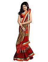 Vibes Cotton Patch Work Saree (S29-6015B _Multi-Coloured)