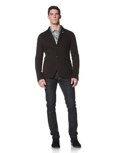 LOVE Moschino Men's Fleece Knit Blazer (Black)