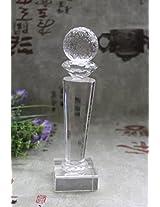 Blank crystal award world globe trophy