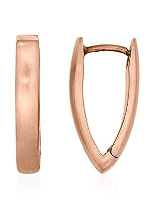 steel art Pendientes Navette Metal Rosado