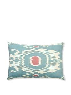"""D. Bryant Archie Uzbek Ikat Pillow, Aqua, 15"""" x 23"""""""