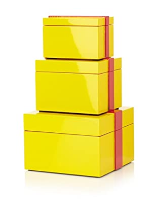Mili Designs Set of 3 Boxes (Yellow/Red)
