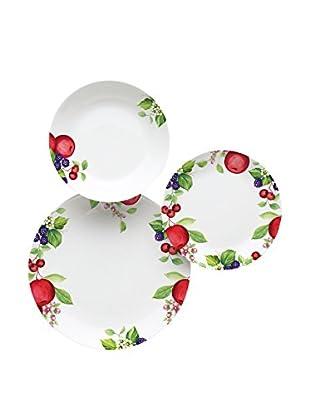 Molecuisine Geschirr 18er Set Apple weiß/mehrfarbig 29x29x39 cm