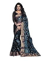 AASRI Women Party Wear Chiffon Brasso Printed Saree 2995