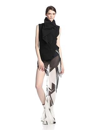 Ann Demeulemeester Women's Asymmetrical Vest (Black)