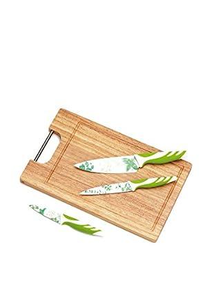 Tognana  Küchenbrett 4 tlg. Set Top grün