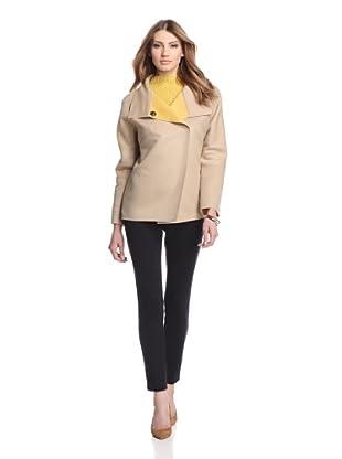 Les Copains Women's Double Face Swing Coat (Camel/Yellow)