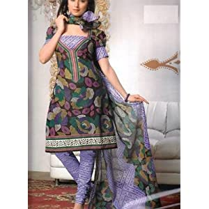 Designer Cotton Unstitched Salwar Suit