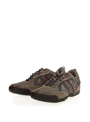 Geox Uomo Traccia U2209G01122C0904 - Zapatillas de ante para hombre (Gris)