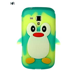 Dressmyphone Cute Silicon Penguin cover for Samsung Galaxy S Duos 2 S7582 (Design 2) - Multicolor
