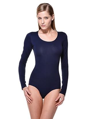 Cotonella Body Manga Larga (Azul)