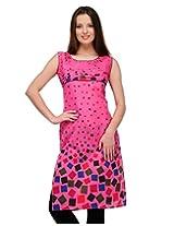 Cenizas Women Cotton Straight Kurta (Kurtis/2106/Pnk/S _Pink _S)