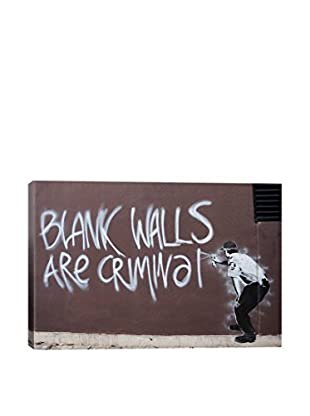 Banksy Blank Walls Are Criminal Giclée On Canvas