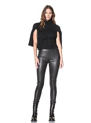 Ann Demeulemeester Women's Knit Cape (Black)