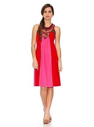 Jota + Ge Vestido Valot (Rojo / Rosa)