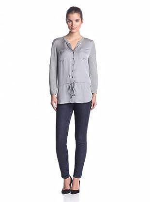 Calvin Klein Women's Henley Tunic (Heather Granite)