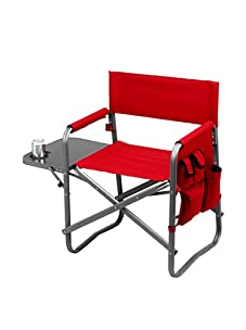 Picnic at Ascot Folding Director's Chair with Table (Red)