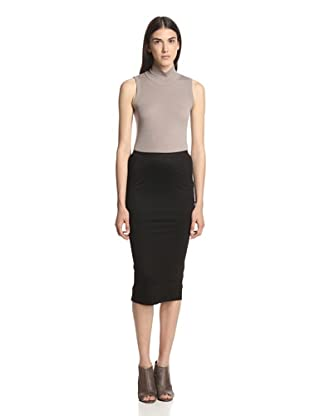 Rick Owens Lilies Women's Short Pillar Skirt (Black)