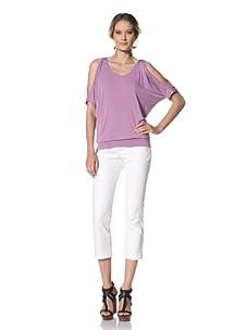 Kenneth Cole Women's Cold Shoulder Top (Deep Lavender)