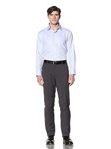 English Laundry Men's Stripe Dress Shirt (Light Blue)