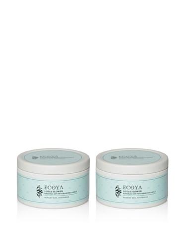 Ecoya Set of 2 Lotus Flower 6-oz. Everyday Tins