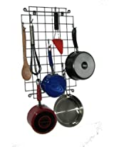 Enclume Décor Grid Wall Pot Rack, Hammered Steel
