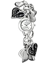 XOXO Women's XO7030 Silver Dial Silver-tone Heart Charms Watch