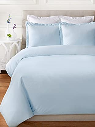 Mélange Home Egyptian Cotton Percale Double Pleat Duvet Set