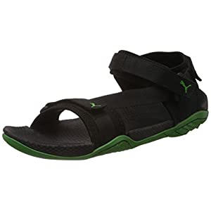 Leaf Green & Black Colored Casual Floaters for Men by Puma - K9000 Model Number