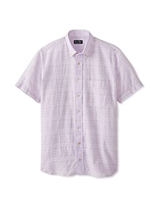 Gitman Blue Men's Honeycomb Sportshirt (Lavender)