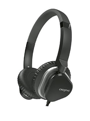 Creative Hitz MA2400 - Auriculares de diadema cerrados (con micrófono), negro