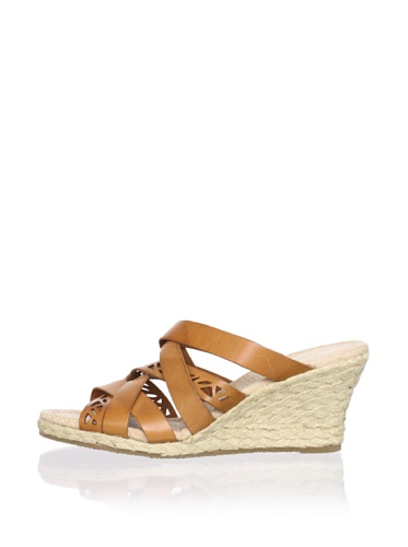 Rockport Women's Emily Laser Cut Wedge Sandal (Sudan Brown)