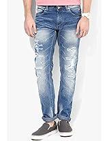 Blue Mid Rise Skinny Fit Jeans Spykar