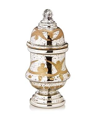 Go Home Zenobia Antique Gold Mercury Jar with Lid