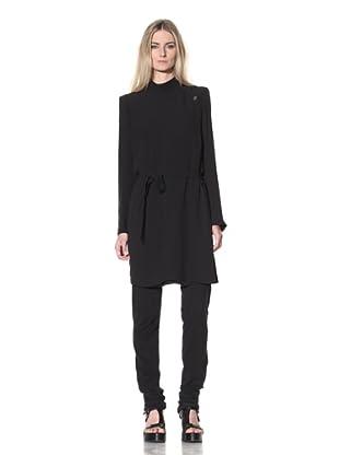 Ann Demeulemeester Women's Side Button Long Coat (Black)
