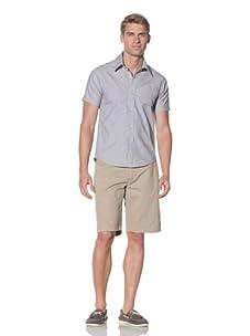 Rhythm Men's Touche Woven Short Sleeve Shirt (Blue)