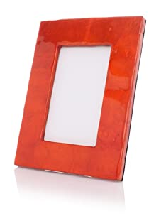 "Terragrafics Cabana 4""x 6"" Picture Frame (Orange)"