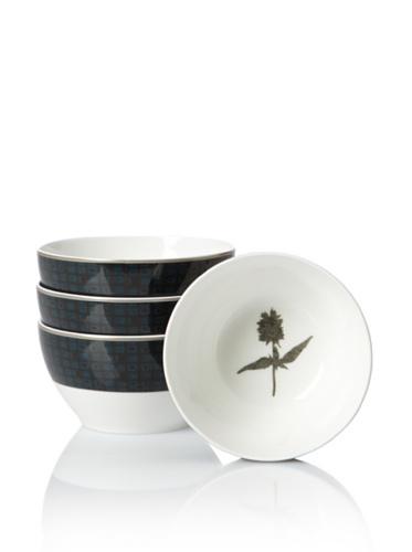 Noritake Set of 4 Everyday Elegance Verdena Small Round Bowls (Platinum)