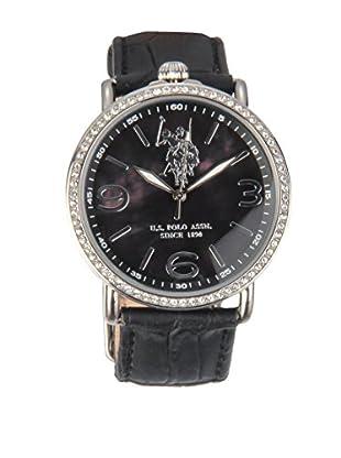 U.S. POLO ASSN. Uhr mit japanischem Quarzuhrwerk Olympia schwarz 38 mm