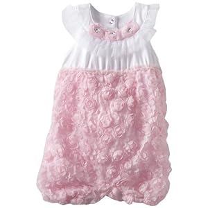 Nannette Baby Girls' 1 Pieced Knit Romper, Pink, 24 Months