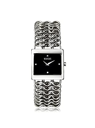Versus by Versace Women's 3C65000000 Chain Silver/Black Stainless Steel Watch
