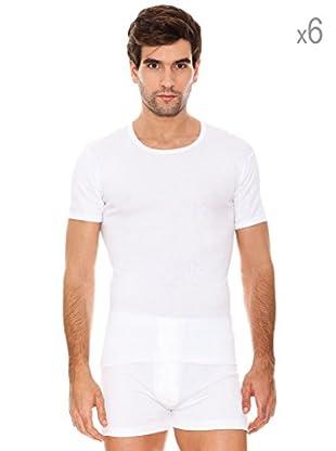Abanderado Pack x 6 Camisetas Caballero Algodón