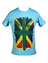 Aubergine Boy's Cotton Printed T-Shirt(Turquoise, 36)