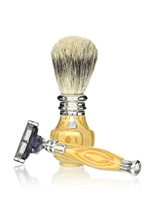 Laguiole En Aubrac Shaving Set (Olivewood)