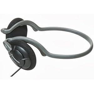 Panasonic Neck band Type Headphones-Black