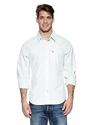 Abercrombie & Fitch Hemd Classic (weiß / grün)