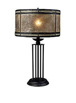 Artistic Lighting Mica Filigree 1-Light Table Lamp, Antique Black